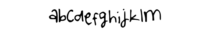 WritingintheCar Font LOWERCASE