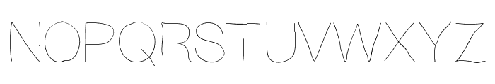 Writingishard Font UPPERCASE