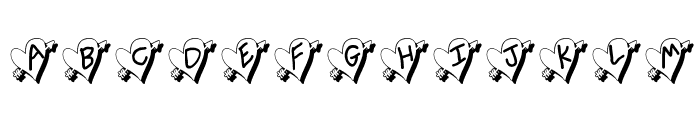 Written In My Heart Shadow Font UPPERCASE