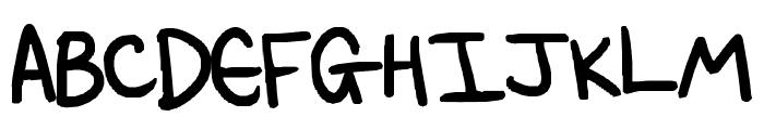 Written during an exam! Font UPPERCASE