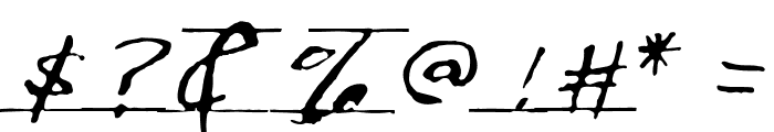 Writtenhouse Font OTHER CHARS