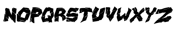 wrecking krew Italic Font UPPERCASE