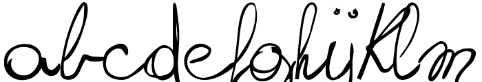 writing something by hand_FREE-version Font LOWERCASE