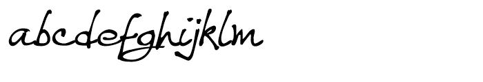 WriteHand Regular Font LOWERCASE