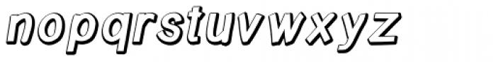 Write Bevel Italic Font LOWERCASE