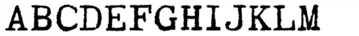 Writing Machine Bold Font UPPERCASE
