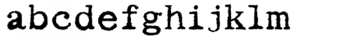 Writing Machine Bold Font LOWERCASE