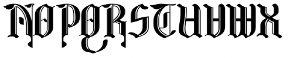 Wroxeter Wrought Font UPPERCASE