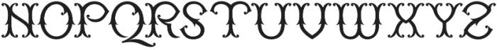 WT Kingsbury Fancy otf (400) Font UPPERCASE