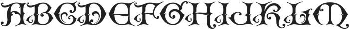 WT Kingsbury Gothic otf (400) Font UPPERCASE