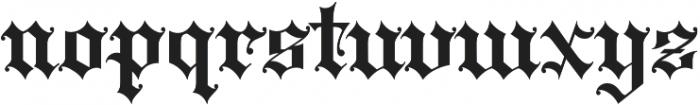 WT Kingsbury Gothic otf (400) Font LOWERCASE