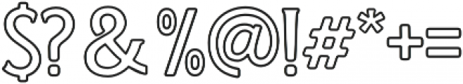 WT Kingsbury Stroke otf (400) Font OTHER CHARS