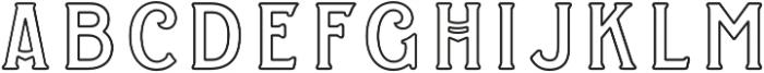 WT Kingsbury Stroke otf (400) Font UPPERCASE