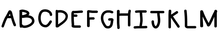 WTTWmessy Font UPPERCASE