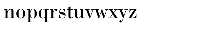 WTC Our Bodoni Regular Font LOWERCASE