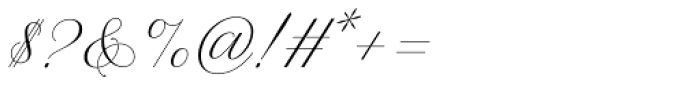 WT Hilton Script Normal Font OTHER CHARS