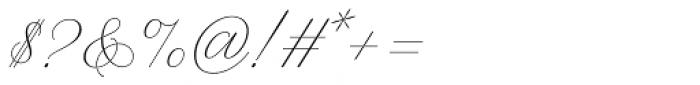 WT Hilton Script Thin Font OTHER CHARS