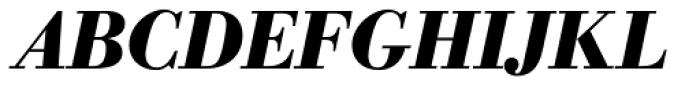 WTC Our Bodoni Bold Italic Font UPPERCASE