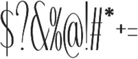 WUB - Northville 04 Light otf (300) Font OTHER CHARS