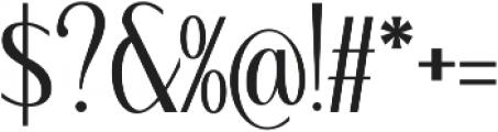 WUB - Northville 04 Medium otf (500) Font OTHER CHARS
