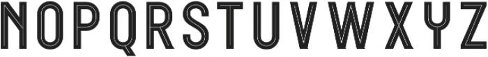 WUB - Northville 08 Inline otf (400) Font LOWERCASE