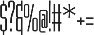 WUB - Northville 09 UltraLight otf (300) Font OTHER CHARS
