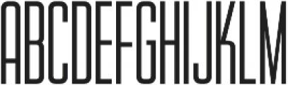 WUB - Northville 09 UltraLight otf (300) Font UPPERCASE
