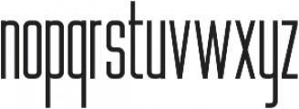 WUB - Northville 09 UltraLight otf (300) Font LOWERCASE