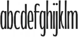 WUB - Northville 10 UltraLight otf (300) Font LOWERCASE