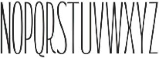 WUB - Northville 10 ttf (400) Font UPPERCASE