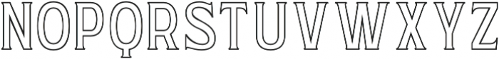 WUB - Northville 11 Normal otf (400) Font UPPERCASE