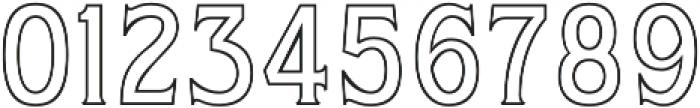 WUB - Northville 11 otf (400) Font OTHER CHARS