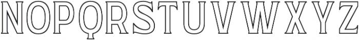 WUB - Northville 11 otf (400) Font UPPERCASE