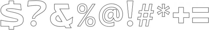 WUB - Northville 12 Heavy otf (800) Font OTHER CHARS