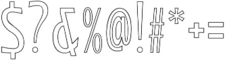 WUB - Northville 12 Ultra Light otf (300) Font OTHER CHARS
