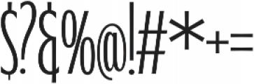 WUB - Northville 17 UltraLight otf (300) Font OTHER CHARS