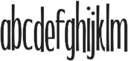 WUB - Northville 17 UltraLight otf (300) Font LOWERCASE