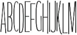 WUB - Northville 17 ttf (400) Font UPPERCASE