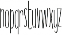 WUB - Northville 17 ttf (400) Font LOWERCASE