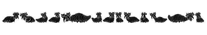 Wurm Regular Font LOWERCASE
