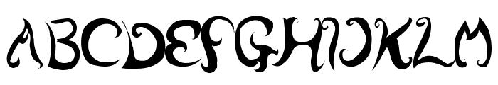 wurly fool Font UPPERCASE