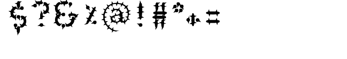 Wurst Cactus Font OTHER CHARS