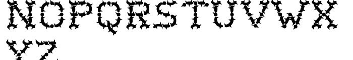 Wurst Cactus Font LOWERCASE