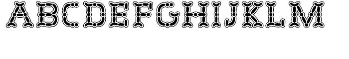 Wurstchen Outlined Font UPPERCASE
