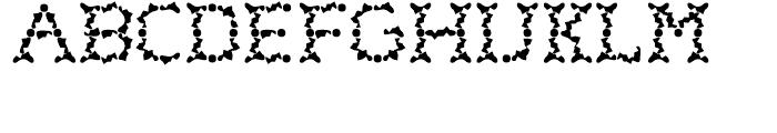 Wurstchen Splatted Font LOWERCASE