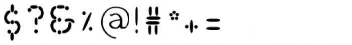 Wurstchen Overlay Inside Font OTHER CHARS