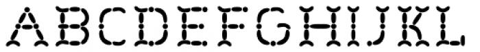 Wurstchen Overlay Inside Font LOWERCASE