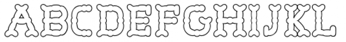 Wurstchen Overlay Outside Font UPPERCASE
