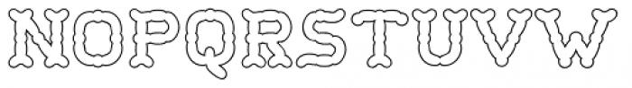 Wurstchen Overlay Outside Font LOWERCASE