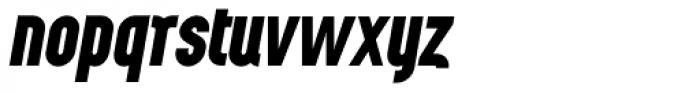 Wurz UP Black Italic Font LOWERCASE